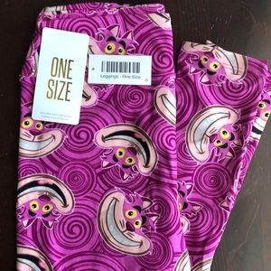 Disney Cheshire Cat Leggings Alice in Wonderland